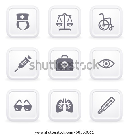 Internet icons on gray buttons 13