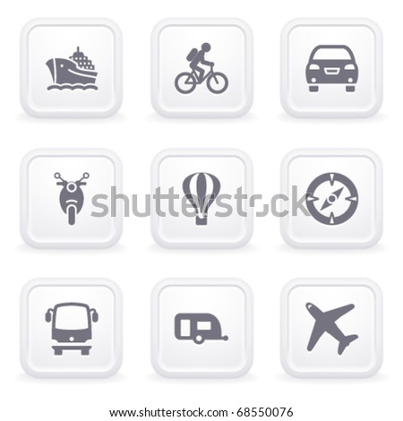 Internet icons on gray buttons 20 - stock vector