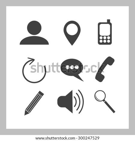 Internet icons set - stock vector