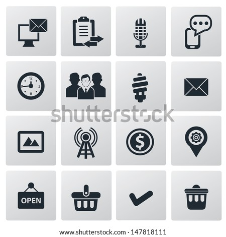 Internet icons,vector - stock vector