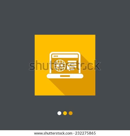 Internet map icon - stock vector