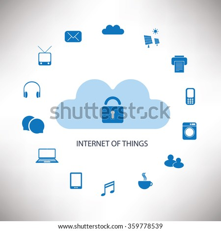 Internet Of Things Concept Design - stock vector