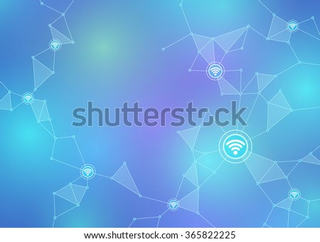 Internet of things, sensor network, abstract image vector illustration - stock vector