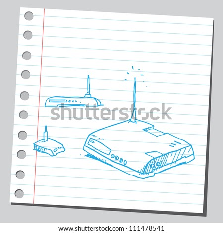 Internet routers - stock vector