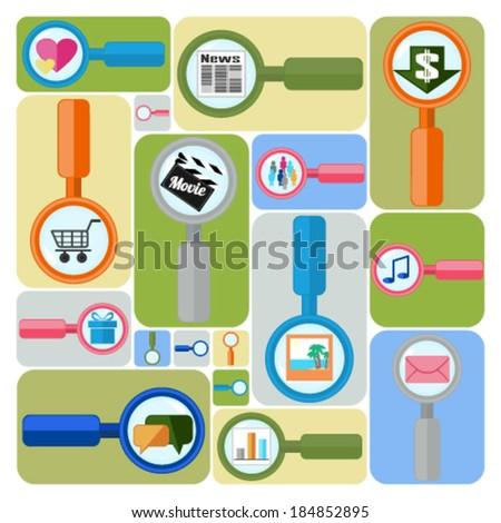 Internet search - stock vector