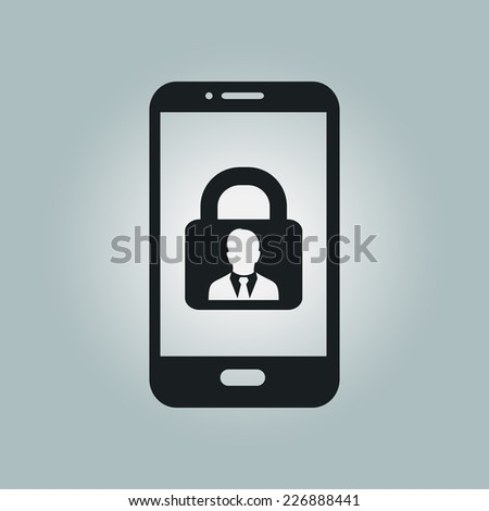 Internet security concept  icon. Identification and protection simbol. - stock vector