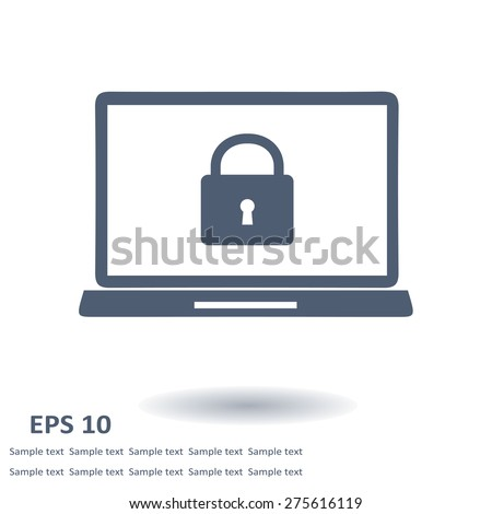 Internet security concept  icon. Identification and protection symbol. - stock vector