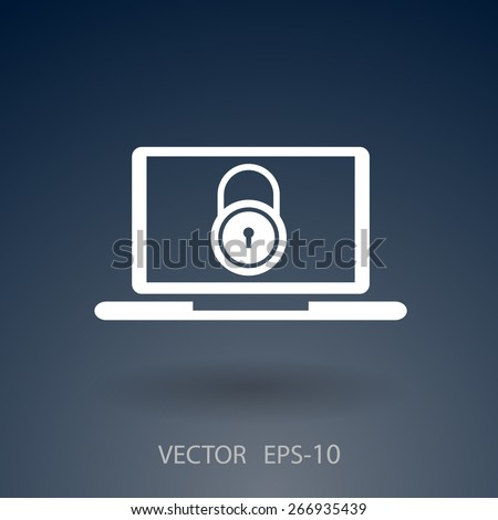Internet security icon - stock vector