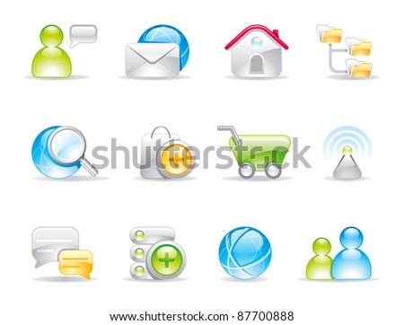 Internet shiny icons and logo