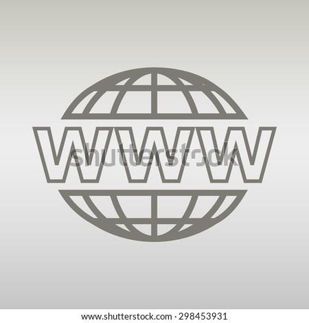 Internet sign icon. World wide web symbol. vector  - stock vector