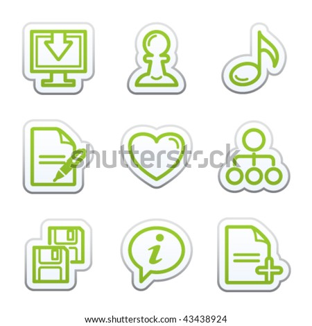 Internet sticker 10 - stock vector