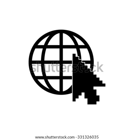Internet - vector icon - stock vector