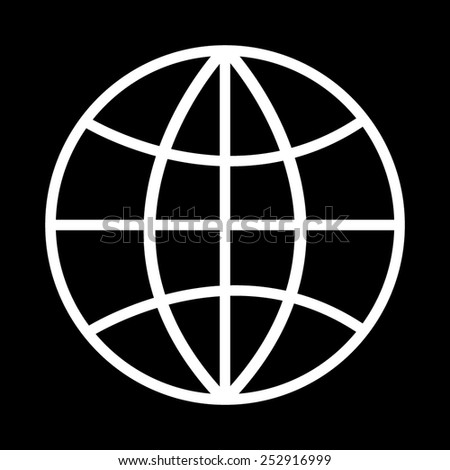 Internet - vector icon on a black background - stock vector