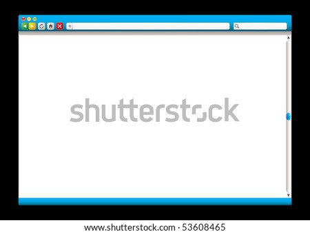 Internet web browser concept with room to add page - stock vector