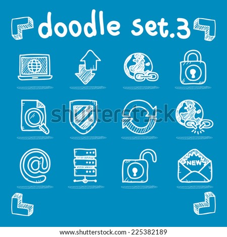 internet & web icon set vector flat design