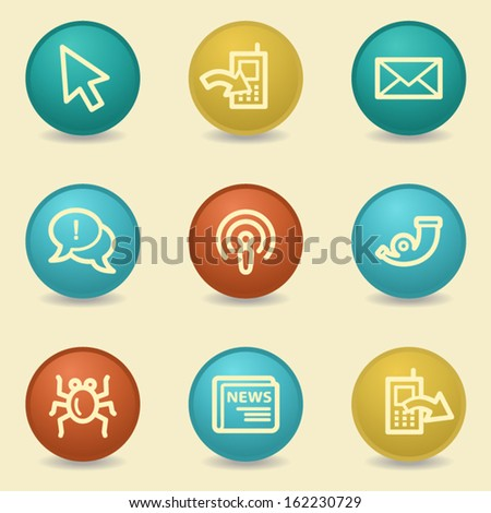 Internet web icons, retro buttons