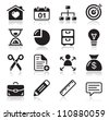 Internet web icons set - stock photo