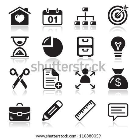 Internet web icons set - stock vector