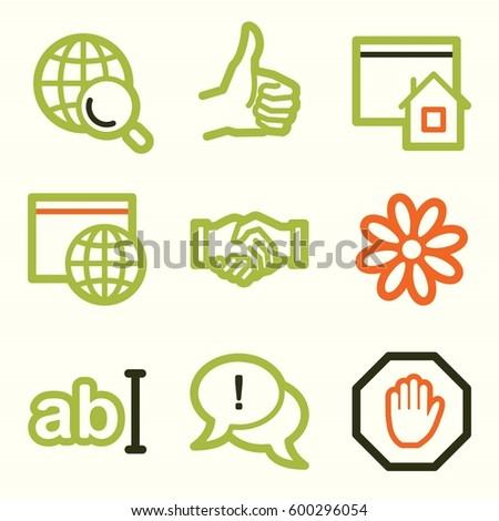 Internet Web Icons Set Service Mobile Stock Vector 600296054