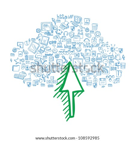 Internet with one Click - stock vector