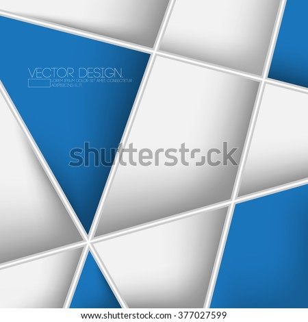 intersecting lines clean corporate design - stock vector