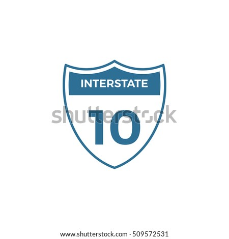 Interstate Sign Outline Icon