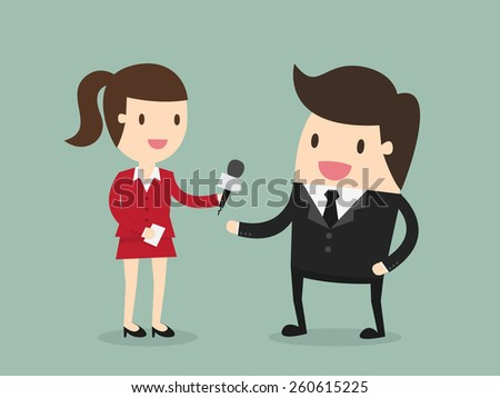 Interview - stock vector