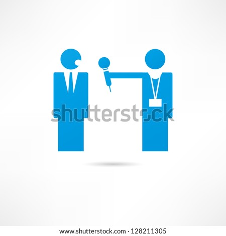 Interview icon - stock vector