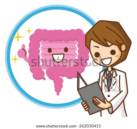 Intestinal illustrations - stock vector