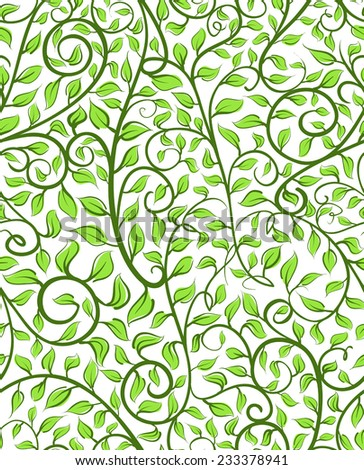 Intricate Seamless Pattern With Leaves - stock vector