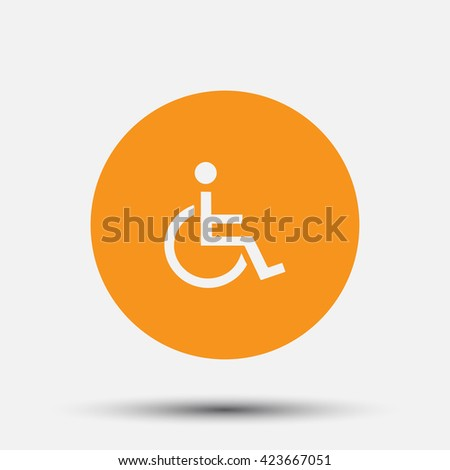 Invalid sign  icon,  vector illustration. Flat design style. - stock vector