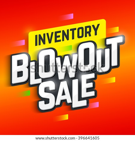 Inventory Blowout Sale banner. Vector illustration. - stock vector