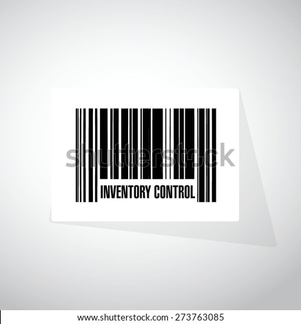 inventory control upc code sign concept illustration design over white - stock vector