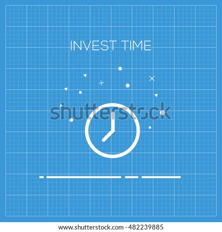 Invest Time Web Icon, Outline illustration, thin line illustration which can be used in your design