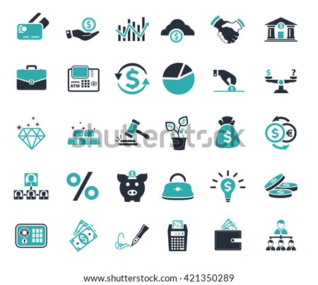 Investment, banking, money and finance icon - stock vector