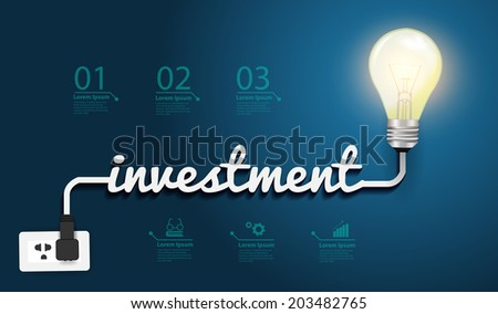investment concept, Creative light bulb idea abstract infographic layout, diagram, step up options, Vector illustration modern design template - stock vector