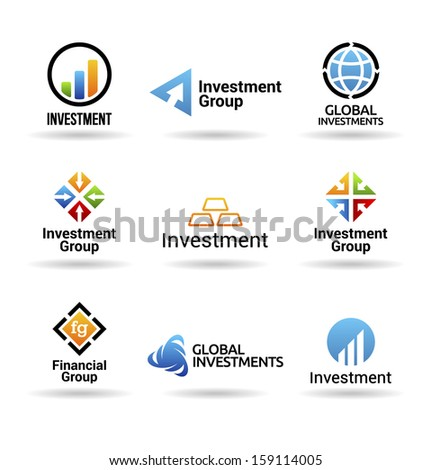 Investment Icons (2) - stock vector