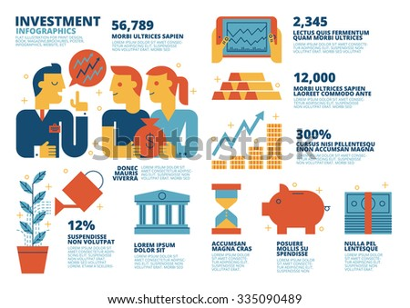 Investment Infographics - stock vector