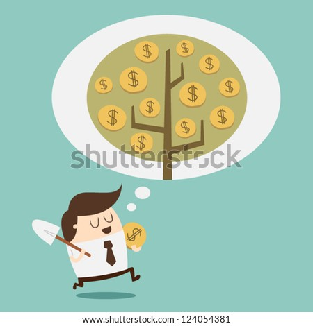 Investment - Money growth concept - stock vector