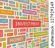 INVESTMENT. Word collage. Vector illustration. - stock photo