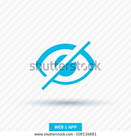 Invisible isolated minimal single flat linear icon in color. Eye line vector icon for websites and mobile minimalistic flat design.