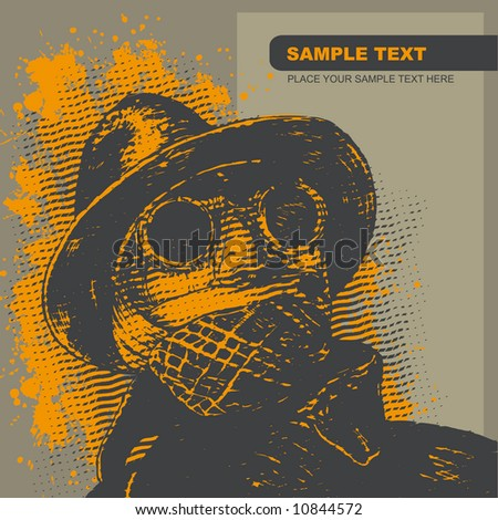 invisible man, vector illustration. CD cover