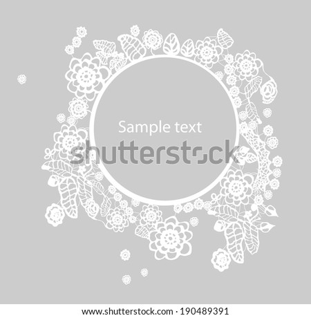 Invitation, anniversary card . EPS10 - stock vector