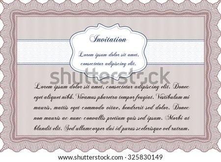 Invitation. Border, frame.Artistry design. Easy to print.  - stock vector