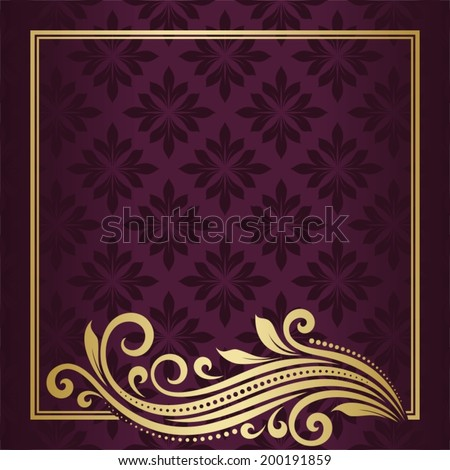 Invitation card. Abstract flower background.