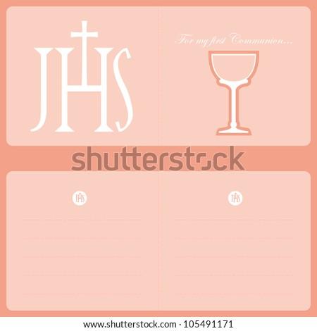 Invitation card catholic religion stock vector 2018 105491171 invitation card catholic religion stopboris Images