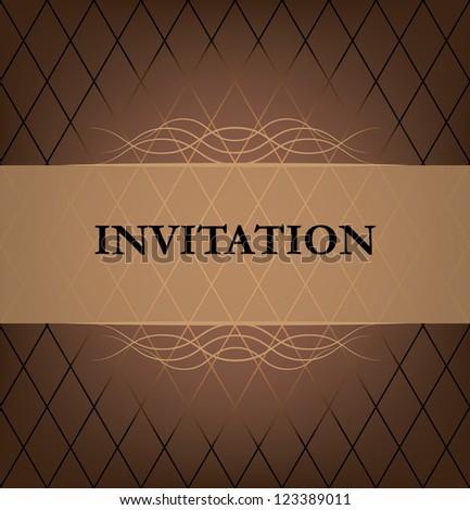 invitation card. chocolate color. vector eps10 - stock vector