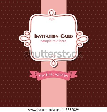 invitation card design. vector illustration - stock vector