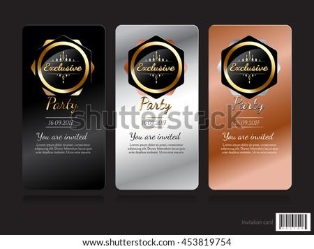 Invitation card exclusive concept design vector stock vector invitation card exclusive concept design vector file stopboris Image collections