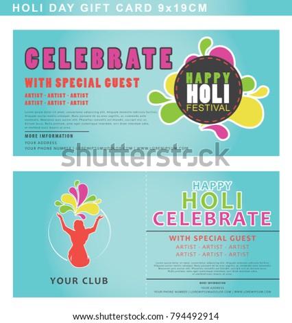 Invitation card holi festival celebration list stock vector hd invitation card for holi festival celebration with list for special guest vector template stopboris Choice Image